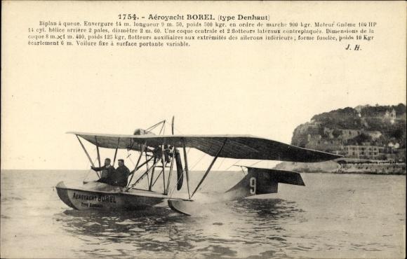 Ak Monaco, Aéroyacht Borel, Type Denhaut, Hydravion, Wasserflugzeug