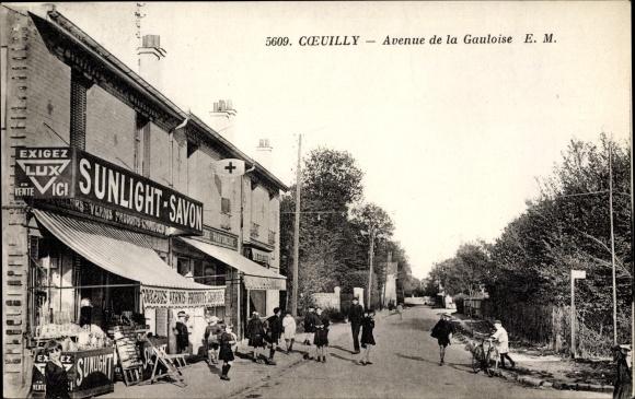 Ak Coeuilly Val de Marne, Avenue de la Gauloise, Sunlight Savon