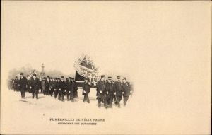 Ak Funérailles de Félix Faure, Couronne des Douaniers, Bestattung des Präsidenten, Zöllner