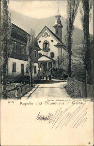 Ak Goldau Arth Kt. Schwyz Schweiz, Kapelle und Pfrundhaus