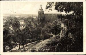 Ak Pirna in Sachsen, Blick auf die Stadt vom Schlossberg