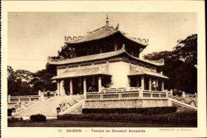 Ak Saigon Cochinchine Vietnam, Temple du Souvenir Annamite, Tempel, Pagode