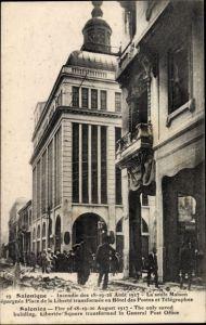 Ak Thessaloniki Griechenland, Fire of 18-20 August 1917, I. WK