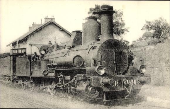 Ak Französische Eisenbahn, Locomotives du Sud Est, Machine 4136, devenue 4 A 127