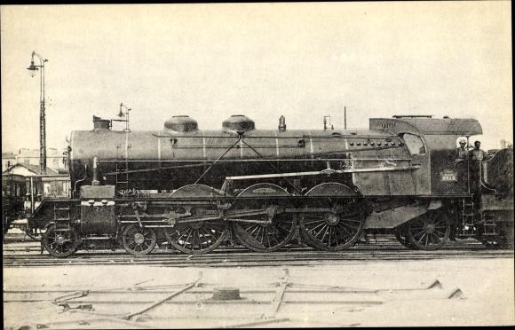 Ak Französische Eisenbahn, Chemin de fer, Locomotives du Sud Est, No 6112, devenue 231 A 12
