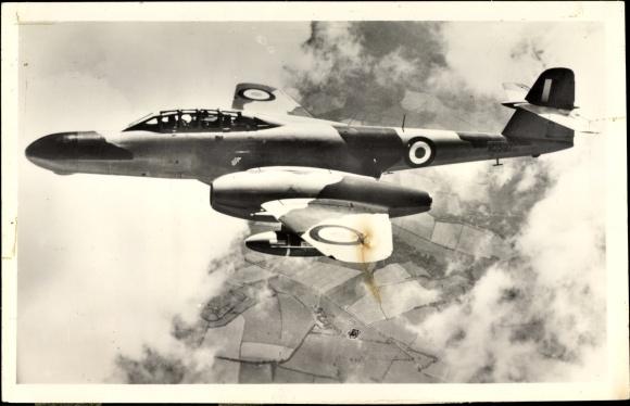 Ak Armstrong Whitworth Meteor N F 11, Jagdflugzeug der Royal Air Force
