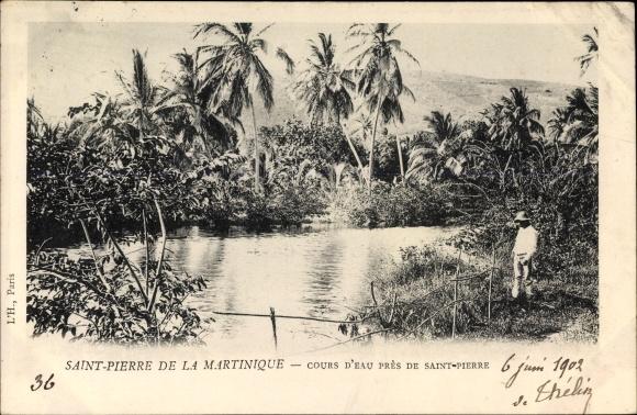 Ak Saint Pierre de la Martinique, Cours d'eau près de Saint Pierre