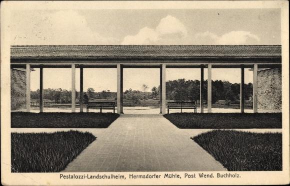 Ak Wendisch Buchholz Märkisch Buchholz in Brandenburg, Pestalozzi Landschulheim, Hermsdorfer Mühle