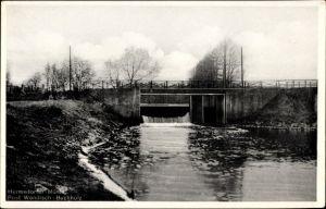 Ak Wendisch Buchholz Märkisch Buchholz in Brandenburg, Wasserpartie an der Hermsdorfer Mühle