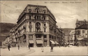 Ak Biel Bienne Kt. Bern Schweiz, Place Centrale, Zentralplatz