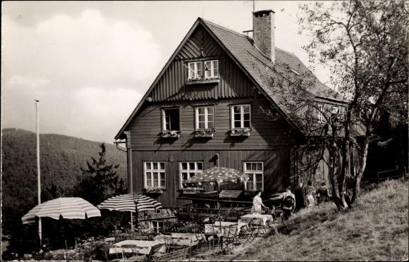 Ak Waltersdorf Großschönau Oberlausitz, Betriebsferienheim Hubertus Baude, VEB ROBUR Werke