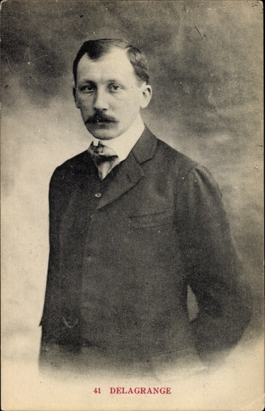 Ak Aviateur Léon Delagrange, Luftfahrtpionier, Portrait