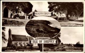 Ak Isle of Sheppey South East England, Minster Church, Abbey Gate, Warden Road, Leysdown Church