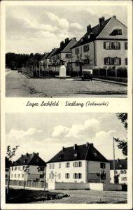 Ak Lechfeld Graben in Schwaben, Lager Lechfeld, Siedlung, Wohnhäuser