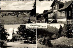 Ak Siegmundsburg Neuhaus am Rennweg Thüringen, Teilansichten, Gaststätte Hiftenberg, F. Siegel