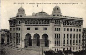 Ak Algier Alger Algerien, le nouvelle Poste et la Direction Générale des Poste et Télégraphes