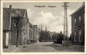 Judaika Ak Dinxperlo Aalten Gelderland, Straßenpartie, Synagoge links zwischen den Häusern