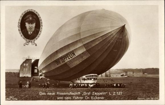 Ak Das Riesenluftschiff LZ 127, Dr. Eckener, Ross Verlag 15/1