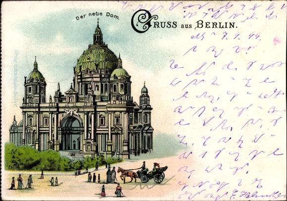 Ansichtskarte mitte berlin berliner dom 1915 nr 133048 for Stempel berlin mitte