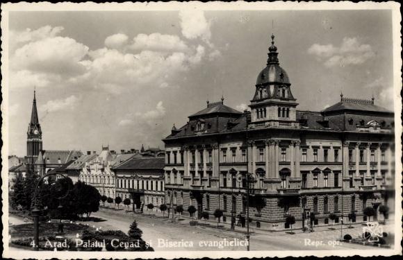 Arad Rumänien ak arad rumänien palatul cenad si biserica evanghelica senat ev