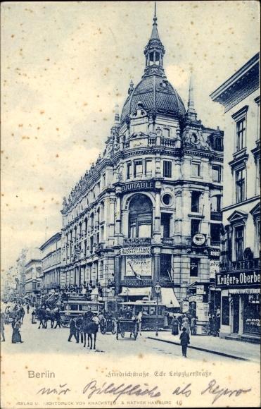 Ak Berlin Mitte, Friedrichstraße Ecke Leipziger Straße, Loeser & Wolff