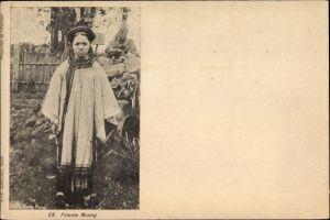 Ak Vietnam, Ansicht eines Muong Mädchens, femme Muong, Vietnamesin