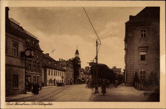 Ak Cieplice Śląskie Zdrój Bad Warmbrunn Schlesien, Der Schlossplatz