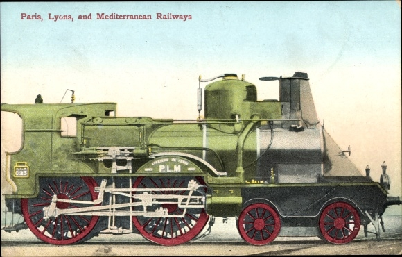 Ak Französische Eisenbahn, Dampflokomotive, Chemin de fer, Paris, Lyons, Mediterranean Railways, PLM