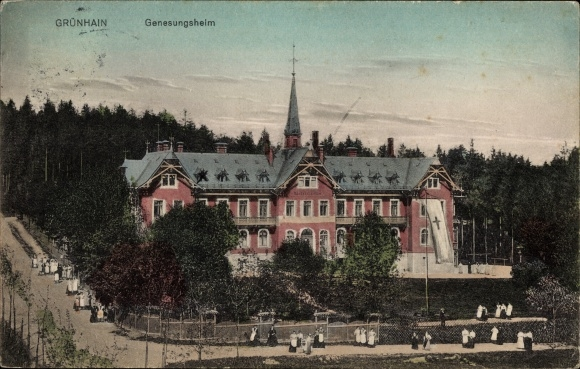 Ak Grünhain Beierfeld im Erzgebirge Sachsen, Genesungsheim