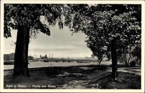 Ak Kehl am Rhein Ortenaukreis Baden Württemberg, Partie am Rhein