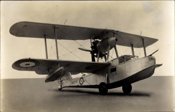 Ak Britisches Militärflugzeug, Vickers Supermarine Walrus, Amphibienflugzeug