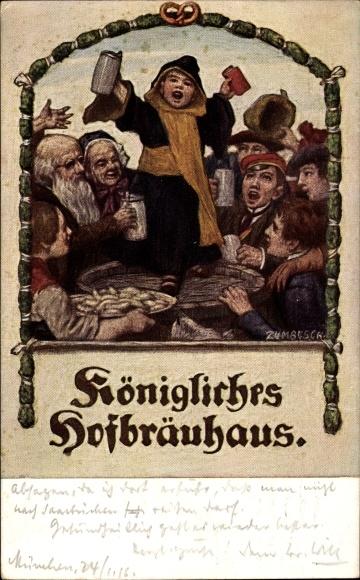 Künstler Ak von Zumbusch, Ludwig, Königliches Hofbräuhaus, Münchener Kindl