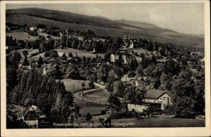 Ak Przesieka Hain Podgórzyn Giersdorf Riesengebirge Schlesie, Ort mit Schneegruben