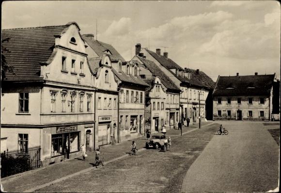 Ak Hrádek nad Nisou Grottau Reg. Reichenberg, Marktplatz, Straßenansicht