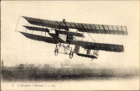 Ak Nos Aeroplanes, Aeroplane Farman, Biplan, Luftfahrtpionier, Flugzeug