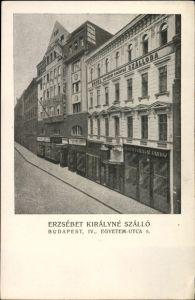 Ak Budapest IV. Ungarn, Erzsebet Kiralyne Szallo, Egyetem utca 5