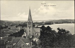 Ak Plön am See Schleswig Holstein, Blick vom Schlossturm