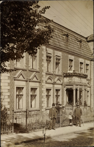Foto Ak Greifenhagen Arnstein im Landkreis Mansfeld Südharz, Wohnhaus