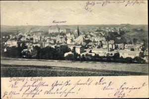 Ak Stollberg im Erzgebirge, Blick auf Ortschaft und Umgebung