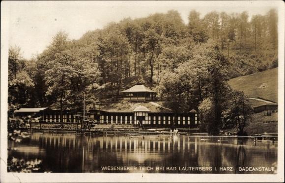 Ak Bad Lauterberg im Harz, Wiesenbeker Teich, Badeanstalt