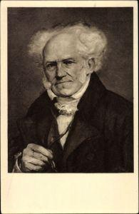 Künstler Ak Lunteschütz, J., Philosoph Arthur Schopenhauer, Portrait