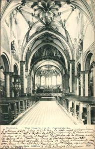 Ak Koblenz, Das innere der St Castorkirche, Blick zum Altar hin, Decke
