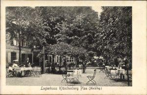 Ak Luftkurort Plau am See, Logierhaus Klüschenberg, Terrasse
