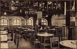 Ak Nürnberg in Mittelfranken Bayern, Braustübl der von Tucherschen Brauerei, Innenansicht