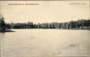 Ak Karsdorf Rabenau im Erzgebirge, Dippoldiswalder Heide, Blick über den Heidemühlenteich