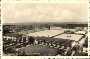 Ak Glauchau an der Zwickauer Mulde in Sachsen, General Hammer-Kaserne, Totalansicht