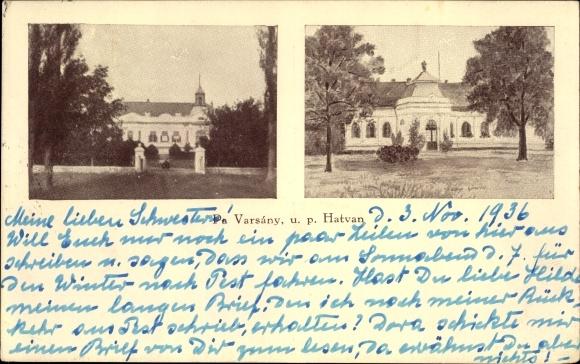 Ak Hatvan Hottwan Ungarn, Pa Varsány u. p. Hatvan