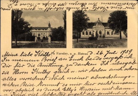 Ak Hatvan Hottwan Ungarn, Pa Varsány, u. p. Hatvan