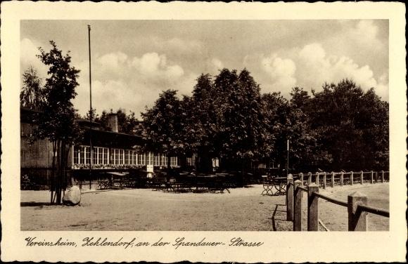 Ak Berlin Zehlendorf, Blick zum Vereinsheim an der Spandauer Straße, Turn- und Sportverein 1888 eV