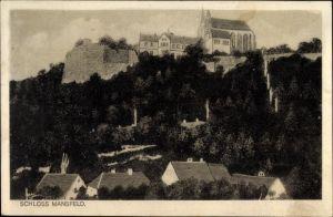 Ak Mansfeld im Harzvorland, Blick auf Schloss Mansfeld und Umgebung